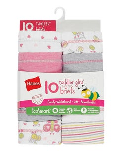 Hanes Toddler Girls' EcoSmart™ Briefs 10-Pack