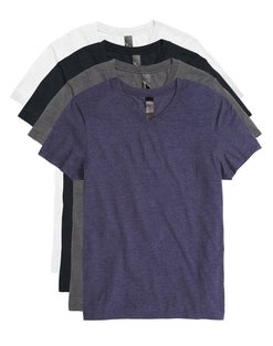 Hanes Men's Garment Washed V-Neck Short-Sleeved Tee Assorted 4-Pack
