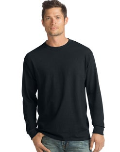 Hanes ComfortSoft® Men's Long-Sleeve T-Shirt 4-Pack