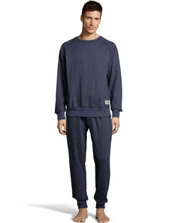 Hanes  Men's 1901 Heritage Raglan Crew Top and Jogger Pant Lounge Set