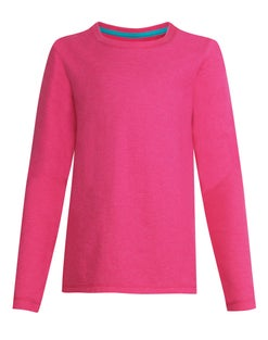 Hanes Girls' Long-Sleeve Crewneck T-Shirt