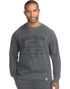 Hanes Men's 1901 Heritage Graphic Fleece V-notch Crewneck Sweatshirt