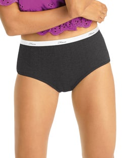 Hanes Women's Ribbed Cotton Briefs 6-Pack