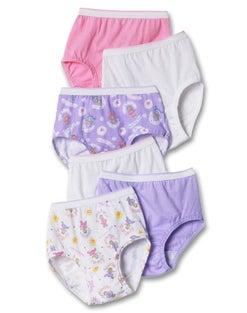 Hanes TAGLESS® Toddler Girls' Cotton Briefs 6-Pack
