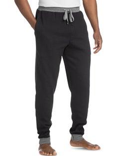 Hanes Men's Thermal Waffle Knit Jogger Pants