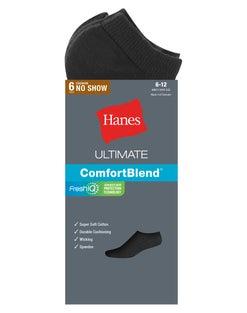 Hanes Classics Men's Extra Low-Cut Sock 6-Pack