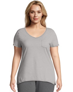 JMS X-Temp® Short-Sleeve V-Neck Lightweight Women's Pocket Tee