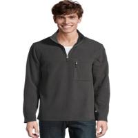 Deals on Hanes Mens Fleece Quarter Zip Jacket