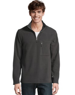 Hanes Men's Fleece Quarter Zip Jacket
