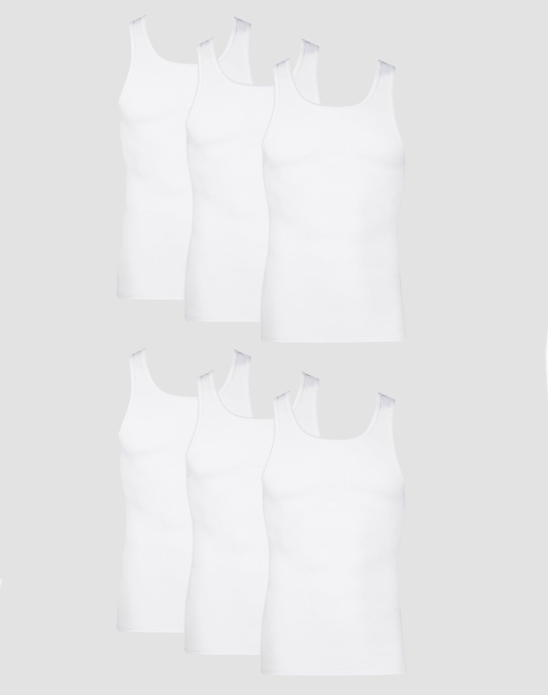 Hanes Boys Tagless ComfortSoft A-Shirt 6-Pack