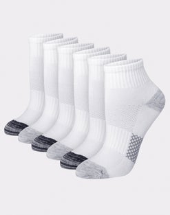Hanes Women's Breathable Lightweight Ankle Socks, 6-Pack