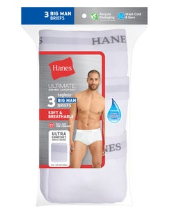 Hanes Ultimate™ Men's FreshIQ® ComfortSoft® Briefs 2XL-4XL 3-Pack