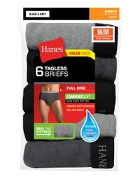 Deals on 6-Pack Hanes Mens FreshIQ ComfortSoft Full Rise Dyed Briefs