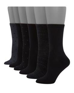 Hanes Women's ComfortSoft® Crew Socks, 6-Pack