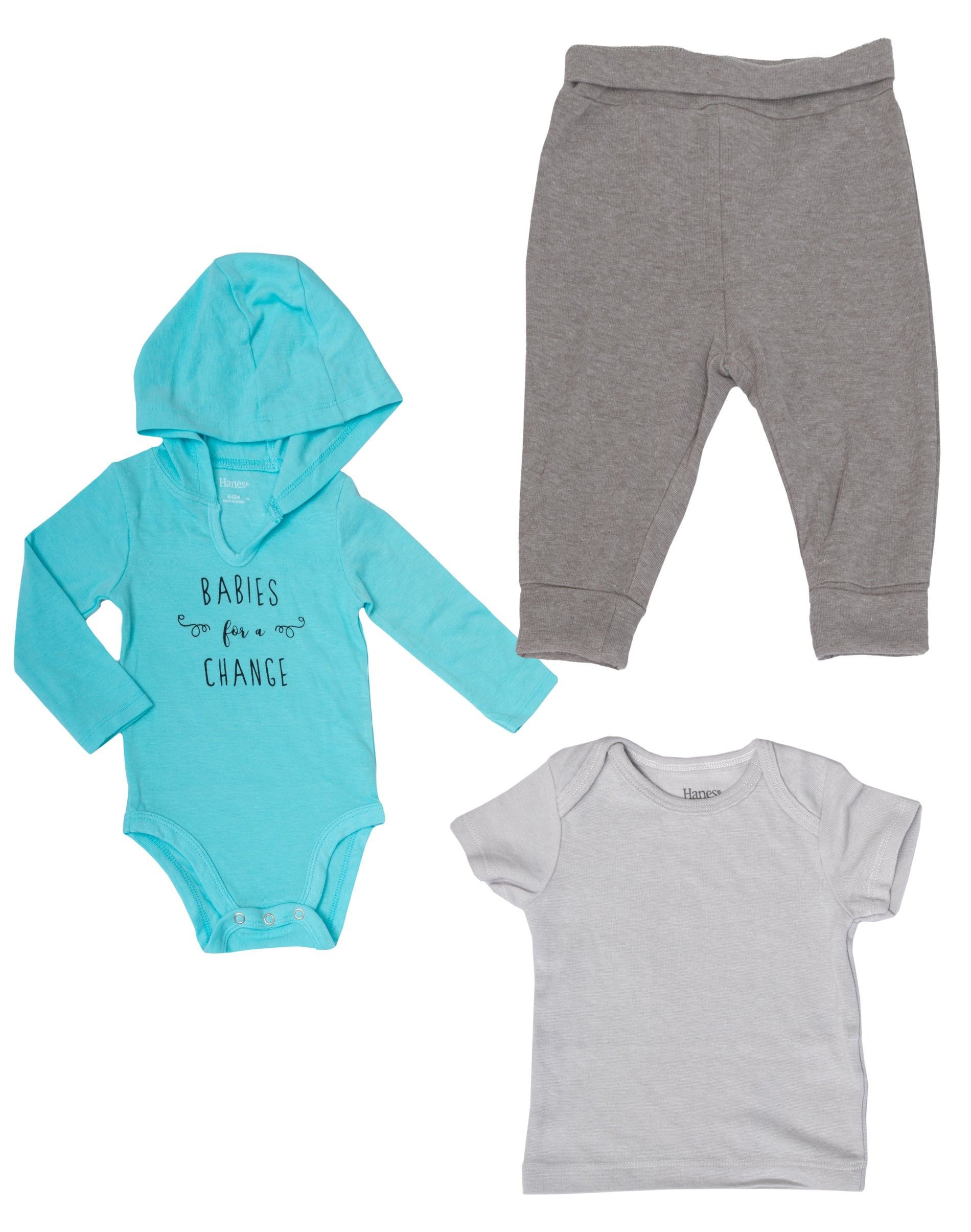 Pant with Short Sleeve Polo Bodysuit Hanes Ultimate Baby Flexy 2 Piece Set