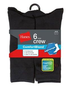 Hanes Men's FreshIQ™ ComfortBlend® Lightweight Casual Dress Socks 6-Pack