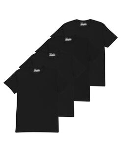 Chaps Men's Short Sleeve Crew T-Shirt Extended Sizes 4-Pack