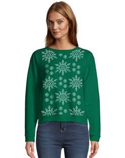 Hanes Women's Ugly Christmas Crew Sweatshirt