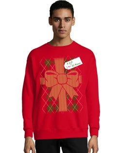 Hanes Men's Ugly Christmas Crew Sweatshirt