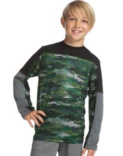 Hanes Sport™ Boys' Long Sleeve Pieced Tech Tee