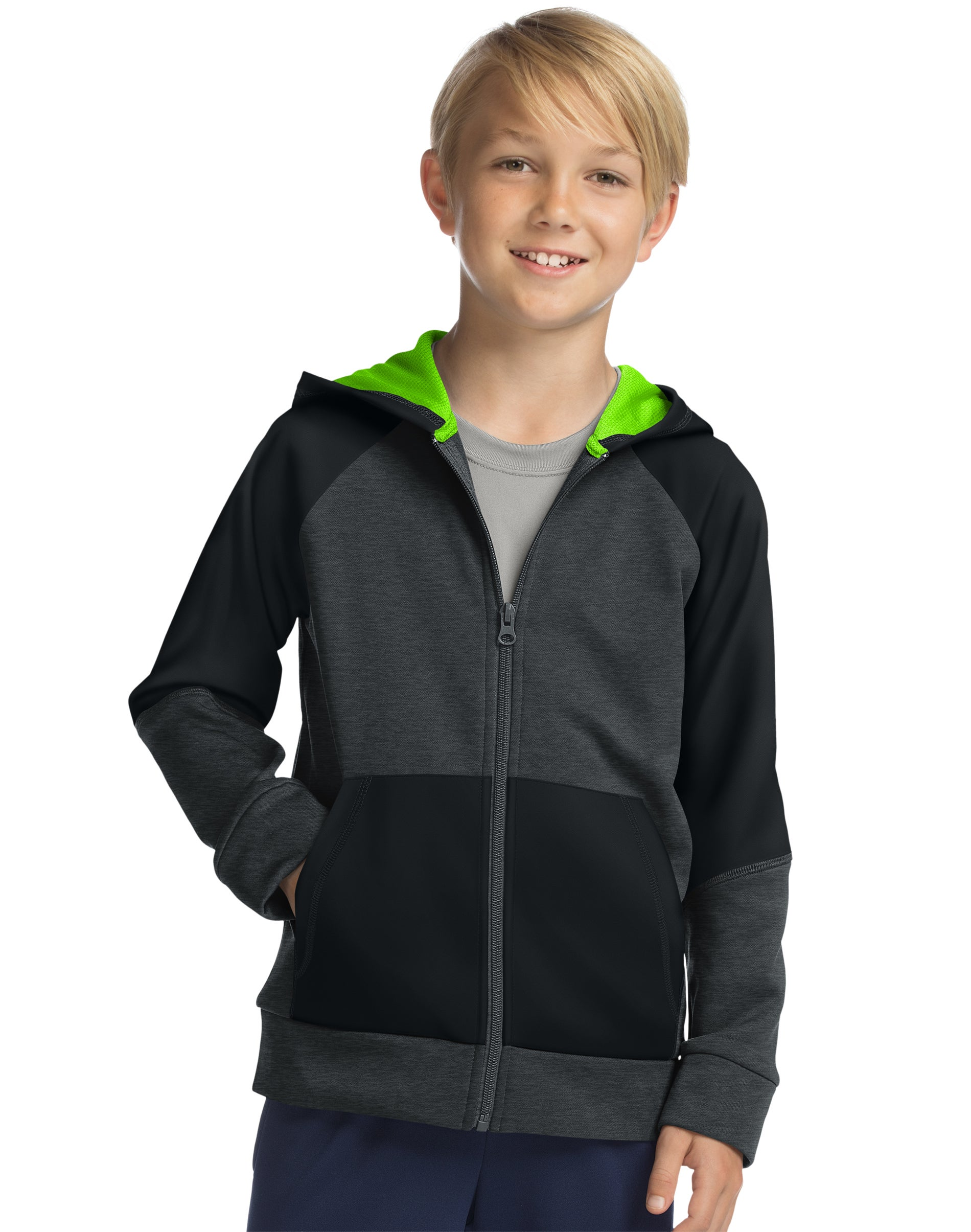 NEW Boys Tech Fleece Zip Hooded Jacket by Everlast  New w// tag $44