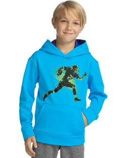 Hanes Sport™ Boy's Tech Fleece Pullover Raglan Hoodie