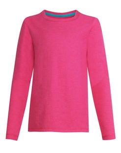 Hanes Girls' Long-Sleeve Crewneck T-Shirt
