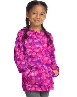Hanes Sport™ Girls' Graphic Tech Fleece Pullover Hoodie