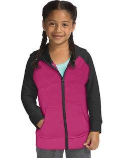 Hanes Sport™ Girls' Tech Fleece Full Zip Hoodie