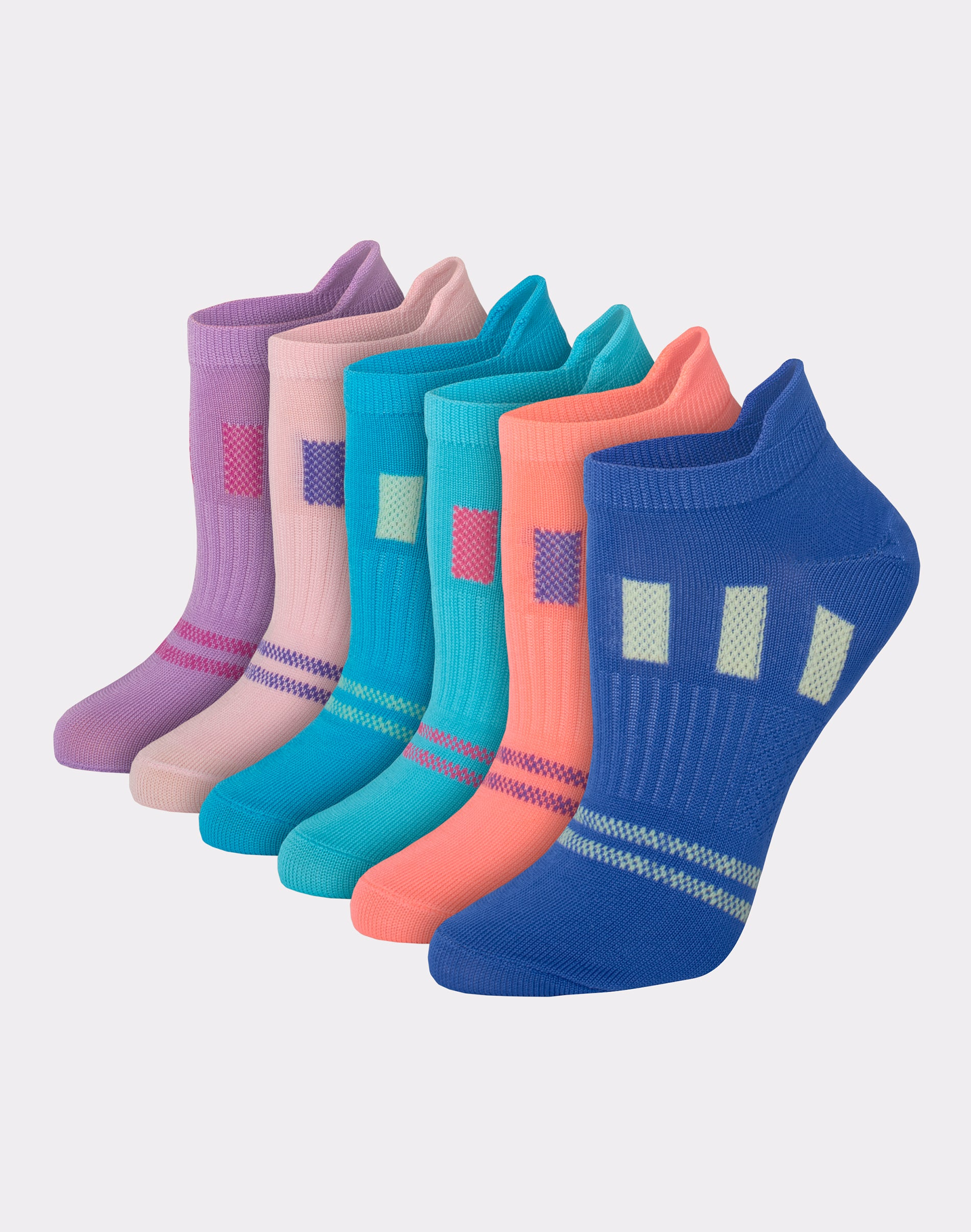 3 Pack Hanes Sport Breathable Low Cut Mesh Socks White Great Quality 5-9