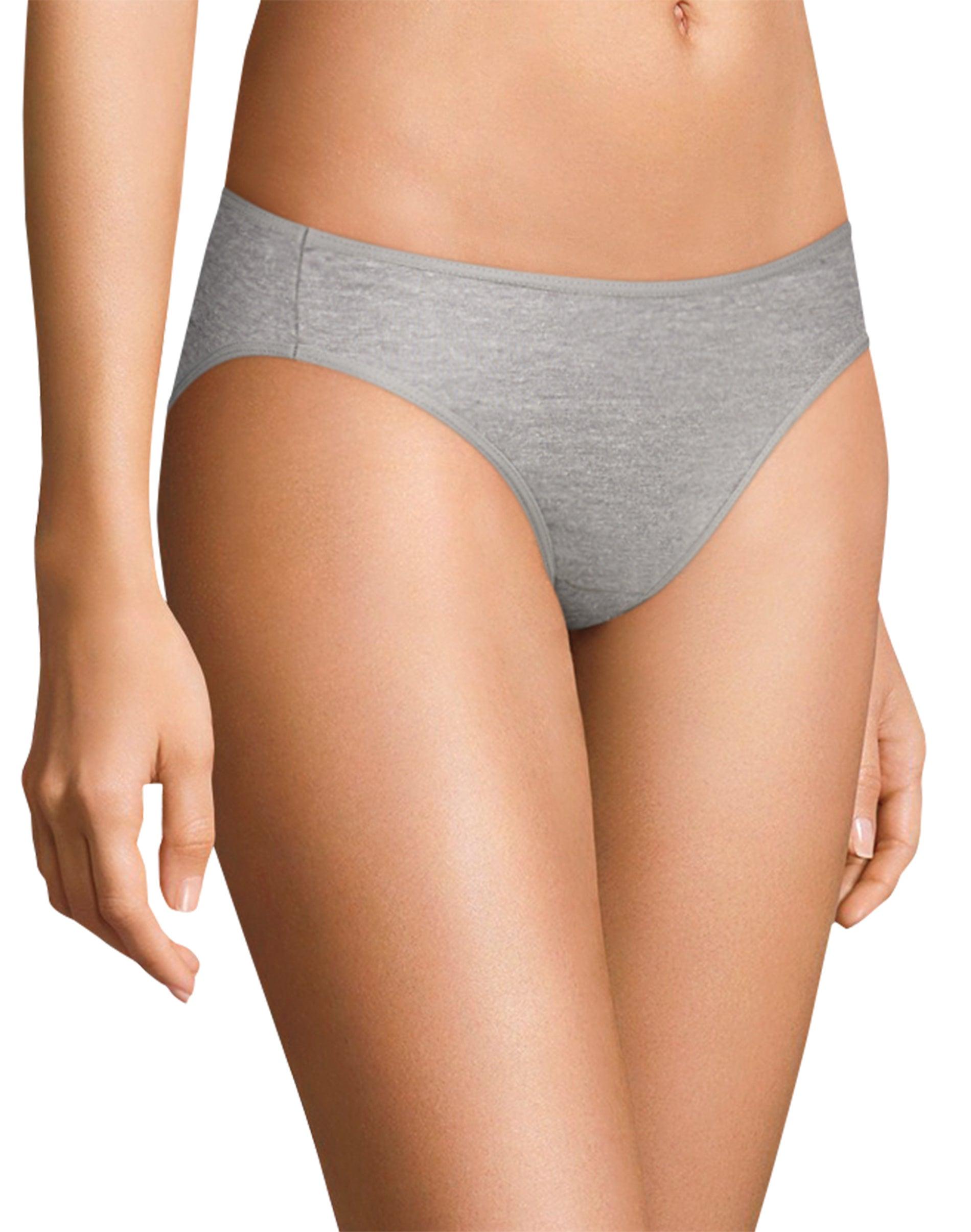 Hanes Womens Ultimate Womens Cotton Comfort Ultra Soft Bikinis Bikini Style Underwear