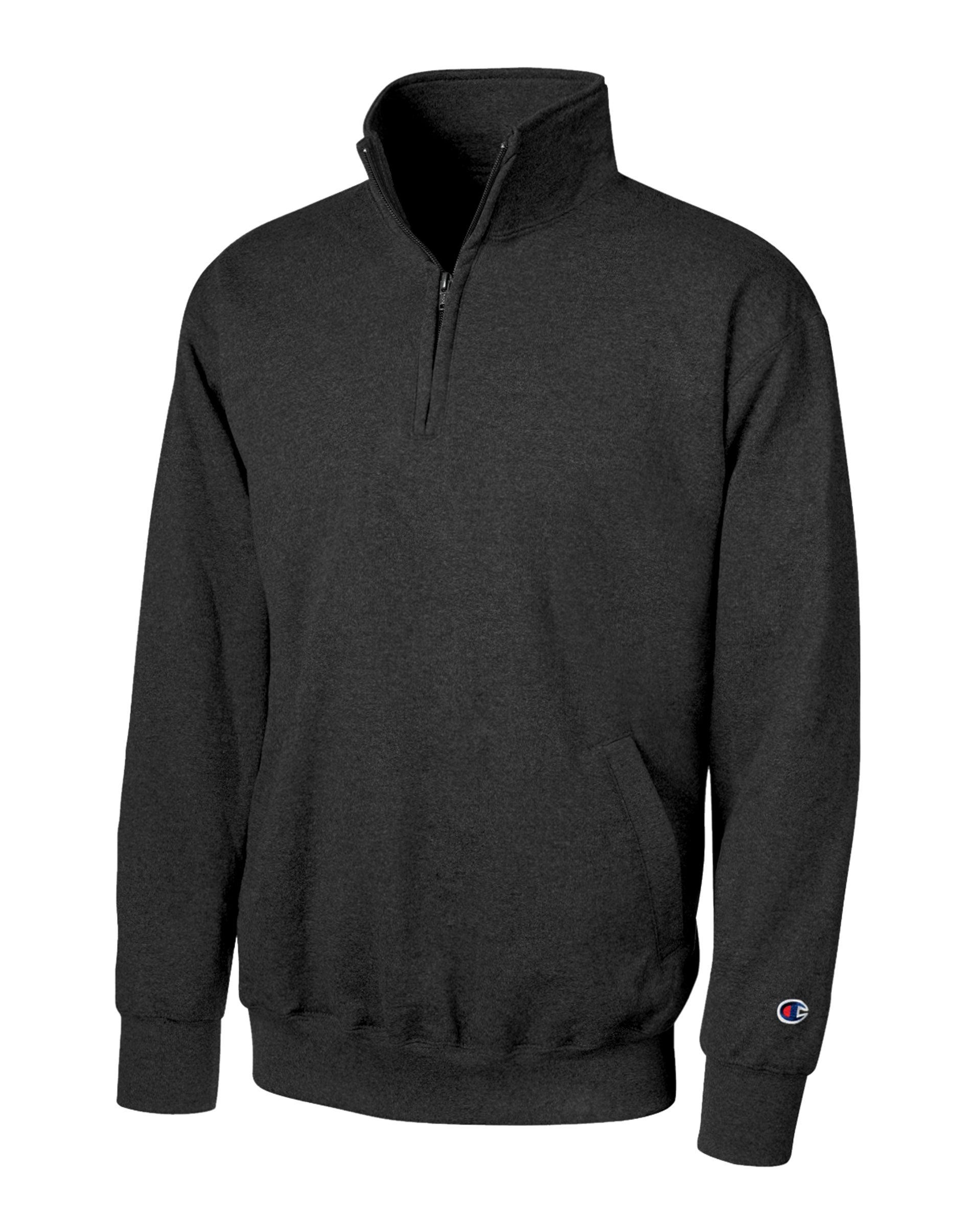 Champion NCAA Herren Powerblend Cotton Poly 1//4 Zip Pullover