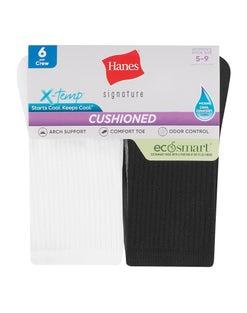 Hanes Women's Signature EcoSmart® Crew Socks, 6-Pack