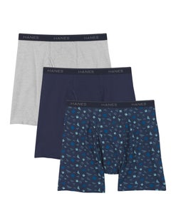 Hanes Men's Stretch Printed Boxer Briefs 3-Pack