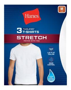 Hanes Men's Stretch Crewneck Undershirt 3-Pack
