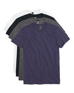 Hanes Men's Garment Washed Crewneck Short-Sleeved Tee Assorted 4-Pack