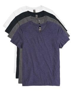 Hanes Men's Garment Washed V-Neck Short-Sleeved Tee Assorted 4-Pack