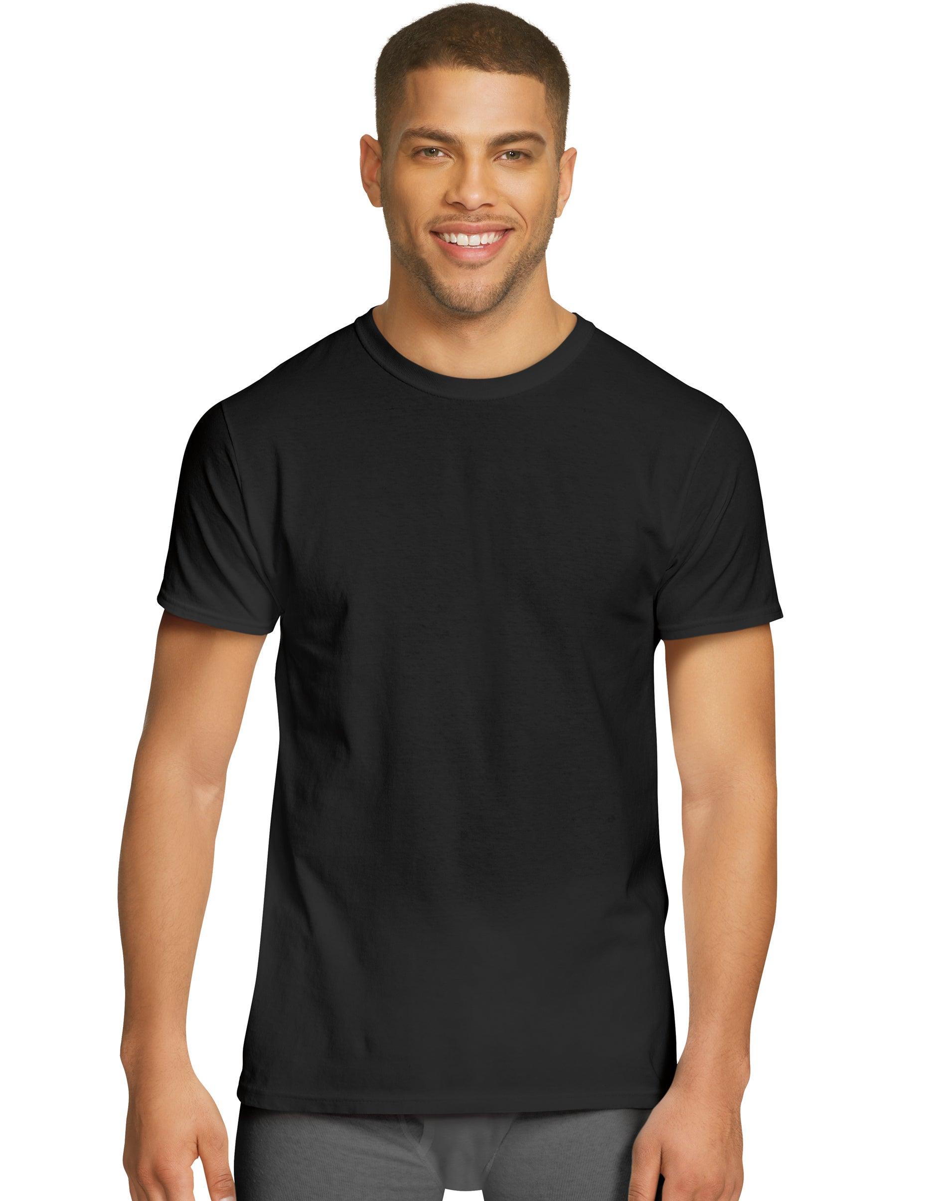 Hanes Mens 4-Pack Comfort Flex Fit Crewneck Undershirt CFFCW4