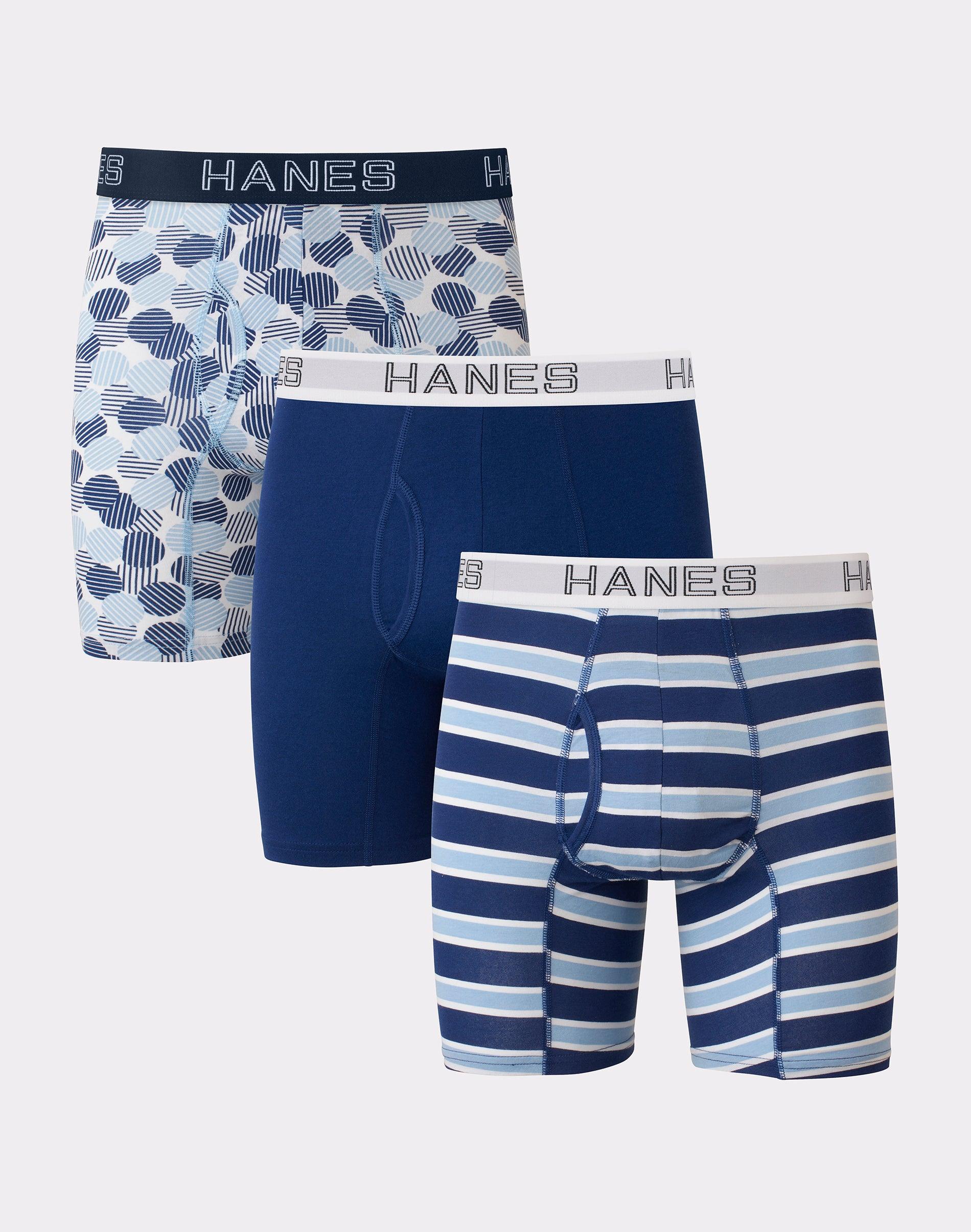 Hanes Red Label Mens Underwear Tops Men`s TAGLESS Boxer Briefs W//