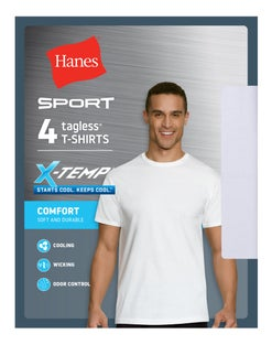 Hanes Ultimate® Men's X-Temp® Sport Crewneck Undershirt 4-Pack