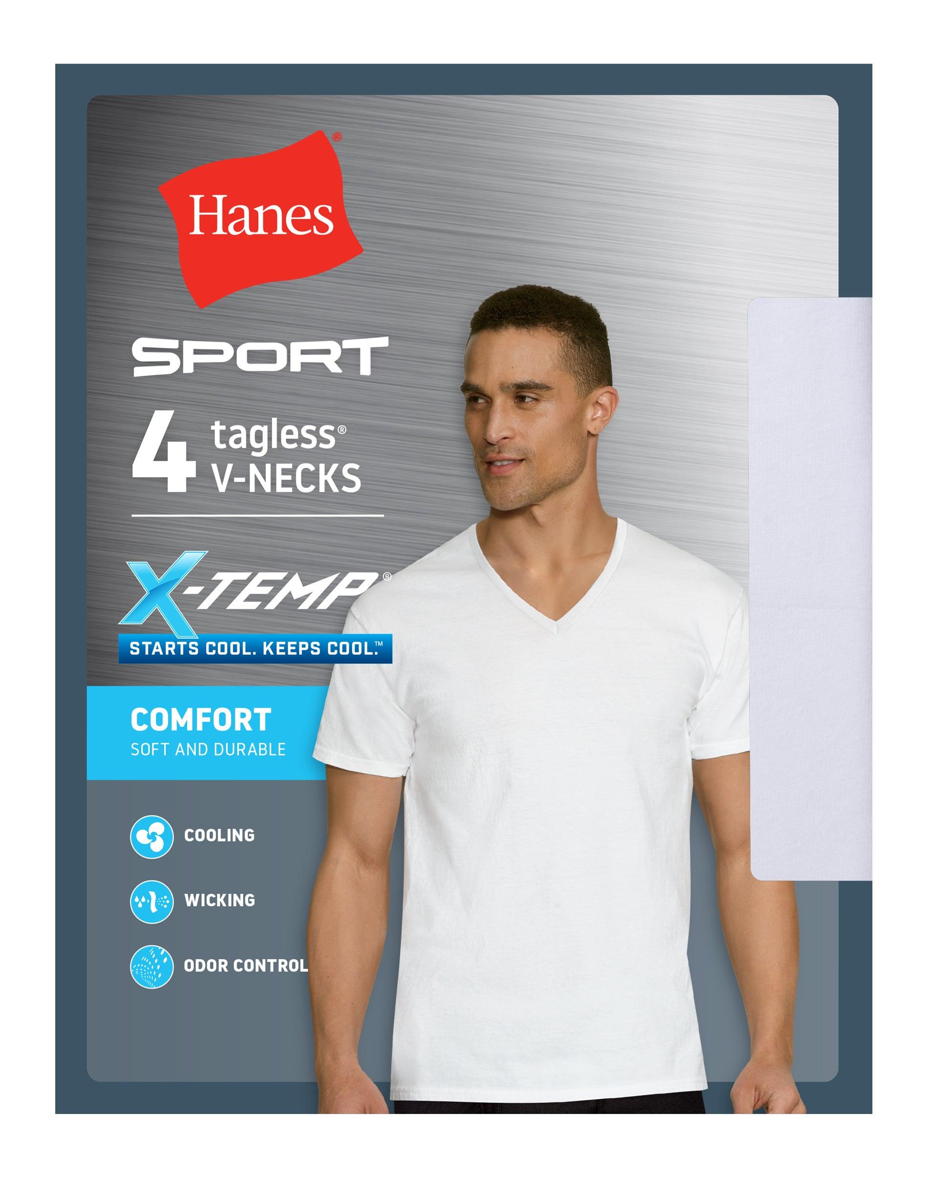 6-Pack Hanes Mens TAGLESS V-Neck Undershirt T shirt 100/% cotton