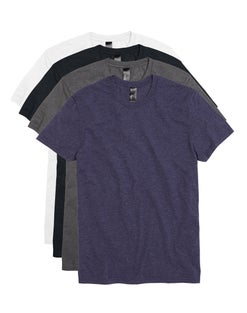 Hanes Men's Garment Washed Crewneck Short-Sleeved Tee Assorted 4-Pack