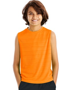 Hanes Sport™ Boys' Sleeveless Heathered Tech Tee