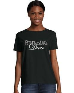 Women's ComfortSoft® Birthday Diva Graphic Crewneck Tee