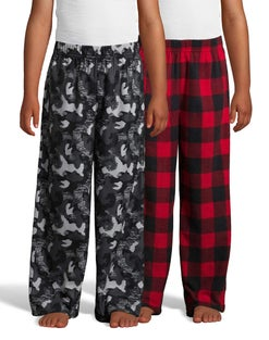 Hanes Boys' Micro Fleece Sleep Pant 2-Pack