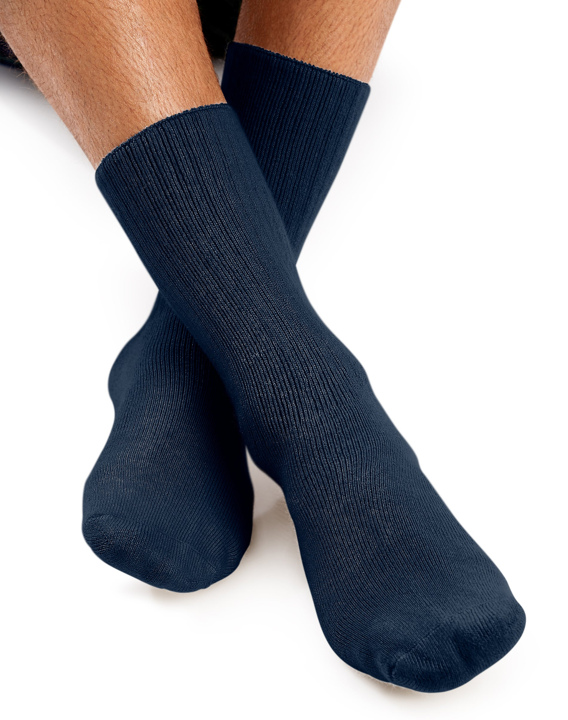 World/'s Softest Socks 3 Pair Beige Crew Large Men/'s//Ladies Sock Size 10-13