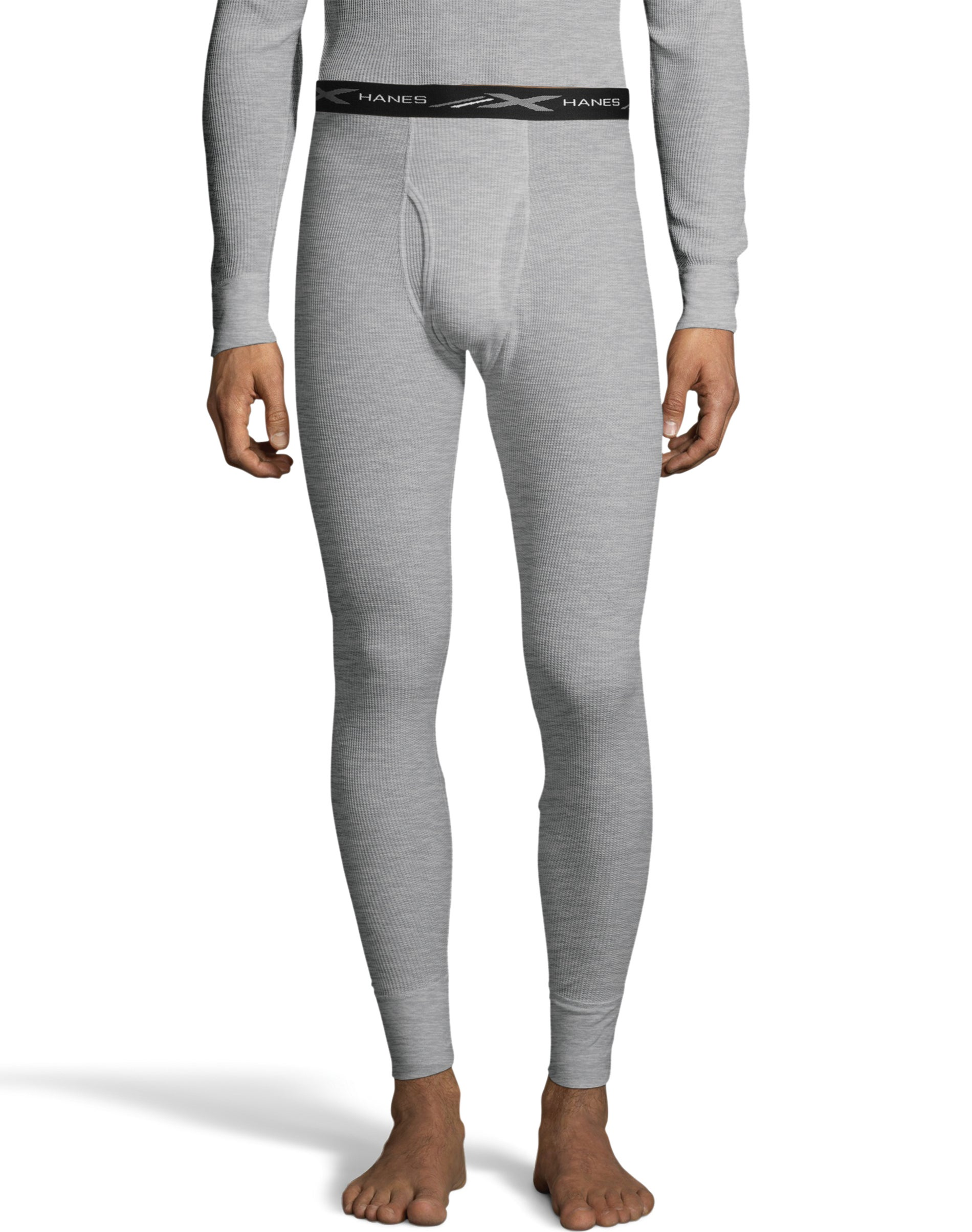 Hanes Mens Waffle Knit Space Dyed Thermal Bottoms