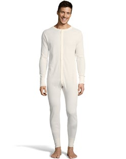 Hanes Men's Solid Waffle Knit Thermal Union Suit 3X-4X