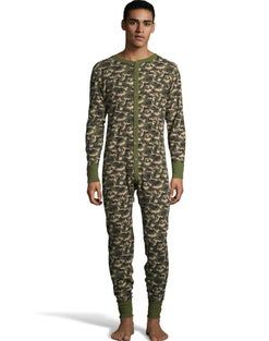 Hanes Men's Camo Waffle Knit Thermal Union Suit