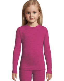 Hanes Girls' Space Dye Crewneck